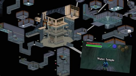 legend of zelda oot map the water temple doesn t seem hard in these ocarina of
