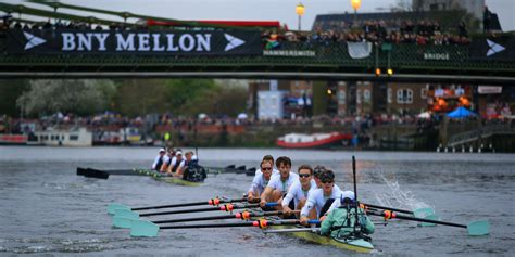 boat race images oxford powers to victory in 160th boat race pictures