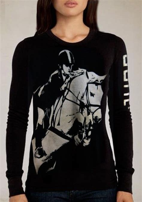design horse riding clothes jump equestrian thermal shirt with sleeve design women s