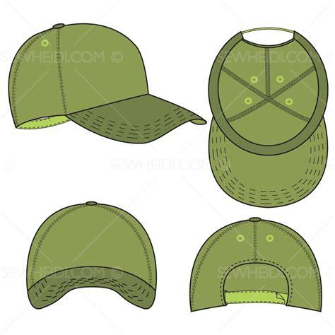 Baseball Cap Fashion Flat Template Templates For Fashion Hat Template Illustrator