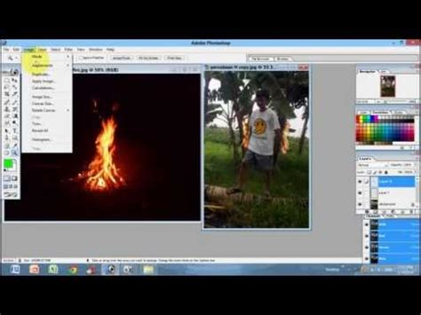membuat watermark di photoshop cs5 tutorial membuat efek api di photoshop cs3 cs4 cs5 cs6 cc