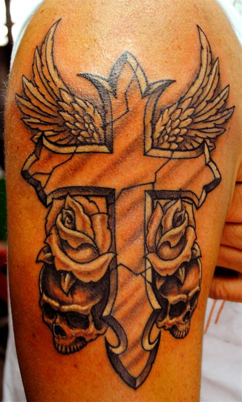 cross shoulder tattoos for men 25 best cross tattoos designs for echomon
