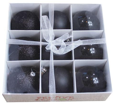 wholesale 9pk all black 80mm christmas ball ornaments