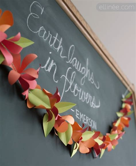 Make Paper Flower Garland - refresh your home with 16 amazing ideas of diy