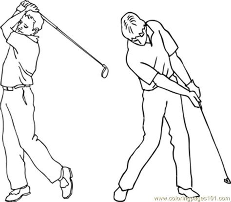 swing color stockphotogolf swing coloring page free golf coloring
