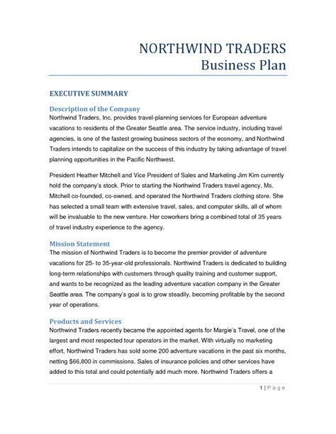 travel agency business plan template business plan format for travel agency sportstle