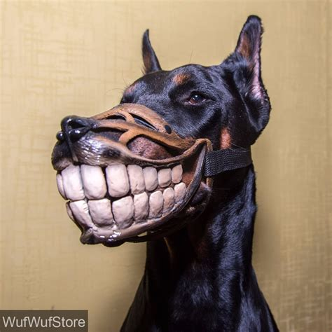 muzzle for dogs smile muzzle teeth muzzle for dogs doberman accessory ebay