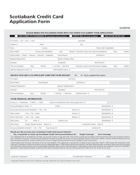 Credit Application Form Canada 2018 credit card application form fillable printable pdf forms handypdf