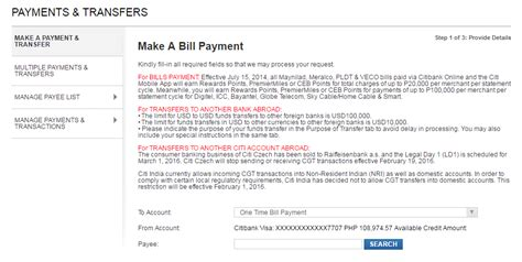 how to make credit card payment through credit card how to pay your meralco bill using your credit card my