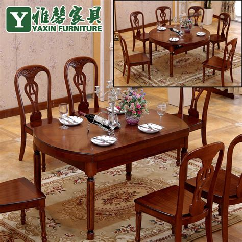 Simple Modern Dining Table Wood Dining Tables And Chairs Combination Table Folding Retractable Simple Modern Imported Oak