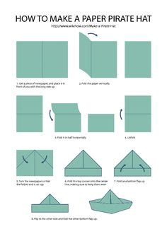 Origami Pan Hat - duck easy origami for crafts