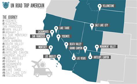 usa west coast road trip maps itinerary a road trip on the us west coast