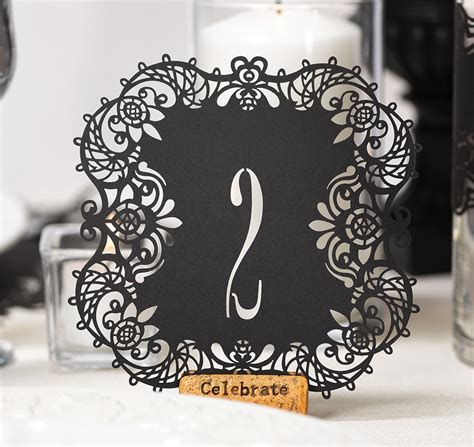 Wedding Cards Zahle by Black Laser Cut Table Number Cards