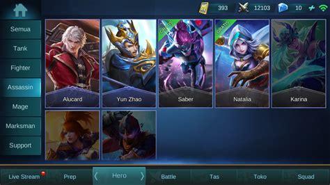 jenis hero role  mobile legends penentu kemenangan