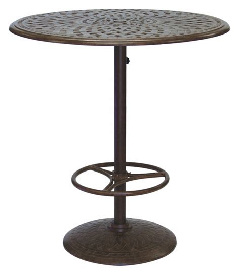 "201060 BJ Darlee 30"" Round Pedestal Bar Patio Table in"