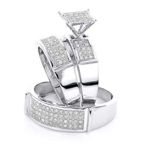 Diamond Wedding Bands: Diamond Wedding Rings Trio