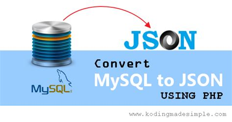 tutorial json php mysql how to convert data from mysql to json using php