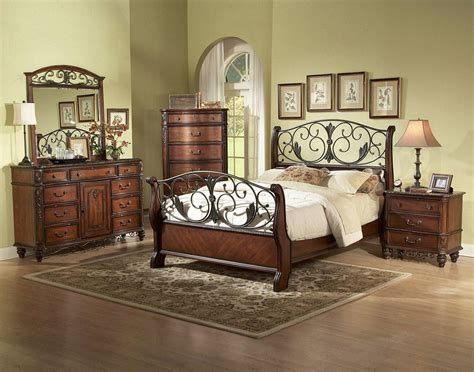 Metal Bedroom Furniture Iron And Wood Bedroom Furniture With Regard To Your House Bedroom Idea Inspiration