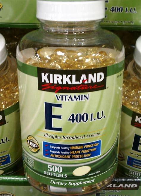 e supplement 400 iu kirkland signature vitamin e 400 iu 500 softgels supp
