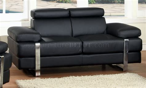 black bonded leather sofa black bonded leather modern sofa w optional loveseat chair