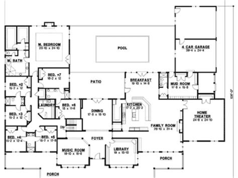 mansion house plans 8 bedrooms 7 bedroom house plans one story mansion house plans 10