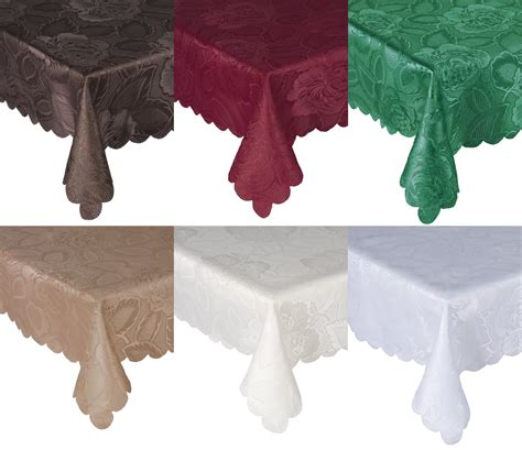 Table Cloth - traditional floral tablecloth luxury damask table