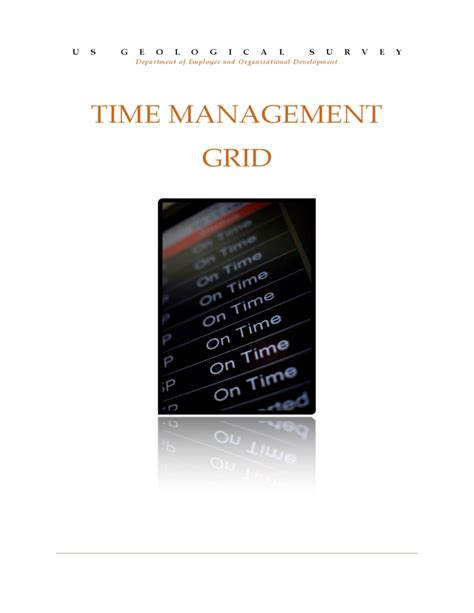 Time Management Grid Template time management grid template free