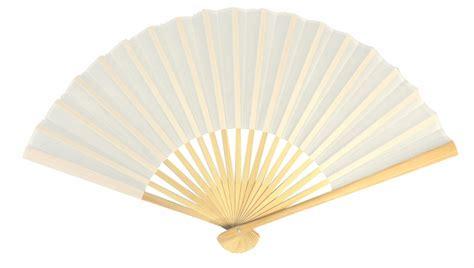 """9"""" White Silk Hand Fans for Weddings (10 Pack)"""