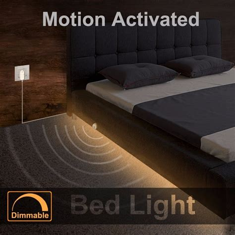 motion sensor bed light dimmable bed light with motion sensor and power adapter
