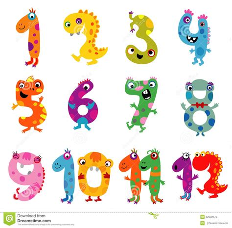 clipart numeri monsters numbers stock vector illustration of