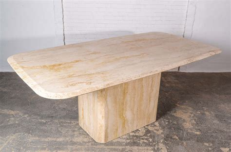 travertine marble dining table mid century high quality travertine dining table
