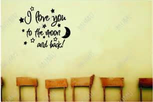 Baby Quote Wall Stickers Moon Quotes And Sayings Love You To The Moon And Back