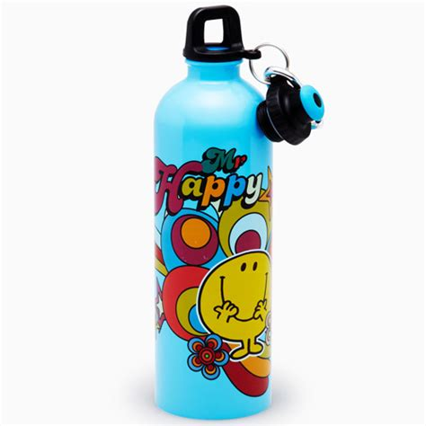 aquasteel water bottle 750ml mr happy on sale now