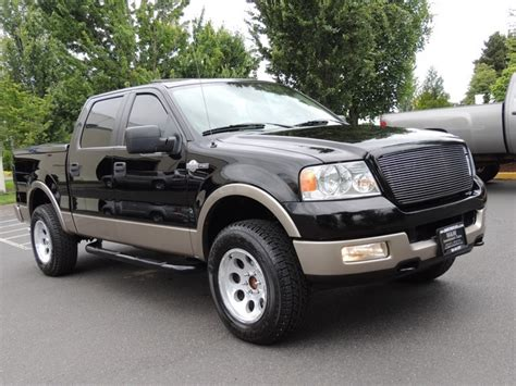 king cab ford f150 2005 ford f 150 king ranch crew cab 4x4 leather