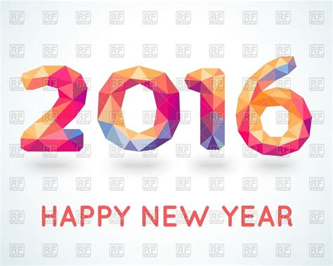 new year 2016 cards australia new year 2016 greeting card made in polygonal style vector