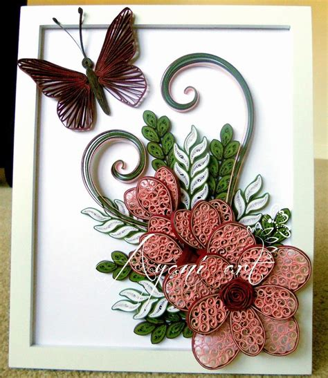 quilling tutorial in bangalore ayani art quilling in pink and green paper works