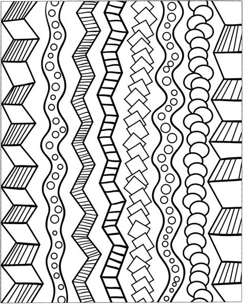 simple pattern border design 3 d coloring book abstract patterns dover publications