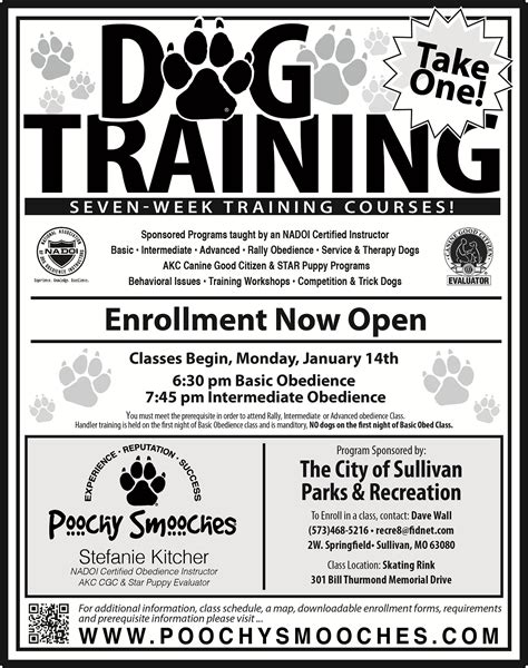 obedience classes welcome to city of sullivan mo