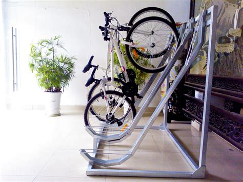 backyard bike rack outdoor 4 bikes galvanized semi bicycle racks