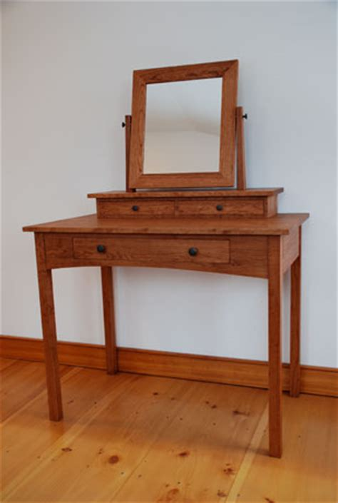 Handmade Vanity Table - handmade mission cherry dressing table hawk ridge