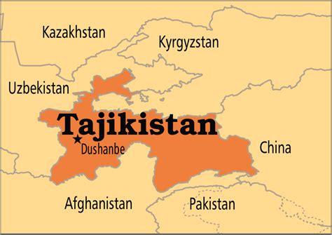 map of tajikistan tajikistan operation world