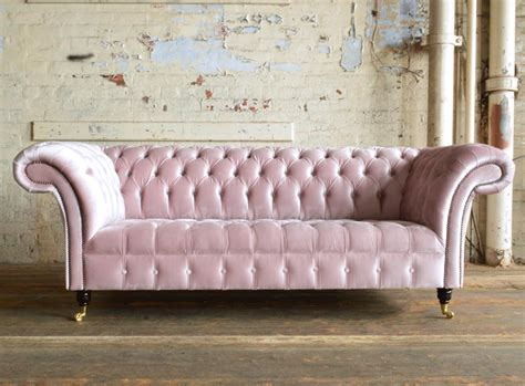 velvet sofa bed pink geneva pink 3 seater wing chair chesterfield suite