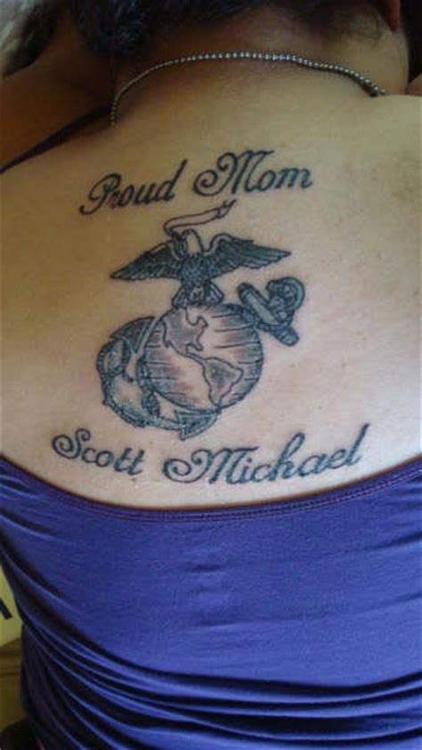 marine mom tattoos marine tattoos