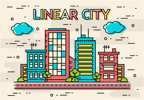 linear layout web design free flat linear design vector image concept download