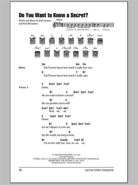 secret chords do you want to a secret sheet direct