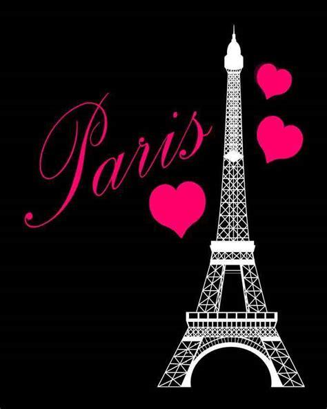 pink black and white eiffel eiffel tower pink black bedroom hearts print wall decor 8 x 10 ebay