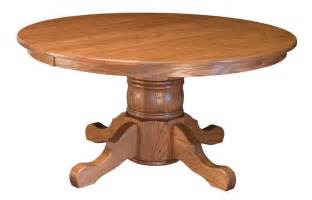 amish hardwood large single pedestal table with 13 quot column