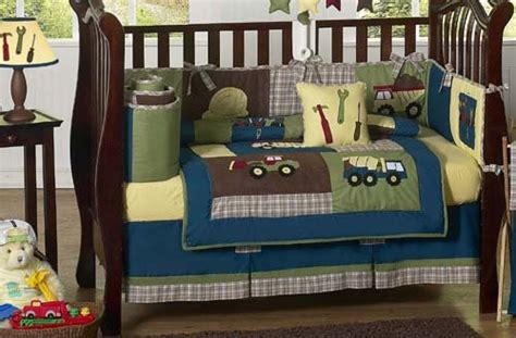 truck crib bedding construction zone blue baby boy truck bedding 9pc crib set