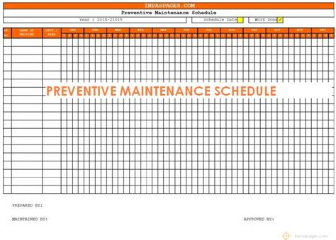 best photos of preventive maintenance template excel