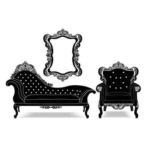 vintage furniture vintage furniture collection vector free